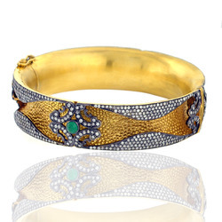 Indian Fusion Diamond Bangle