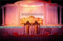 Latest Designer Metal Crystal Mandap