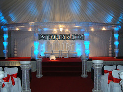 Latest Wedding Silver Crystal Mandap