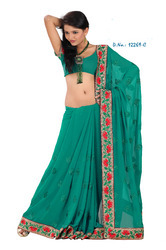 Fancy Embroidery Work Sarees 2010