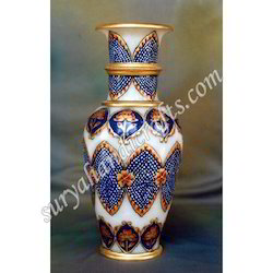 Marble Vases With Meena Painting
