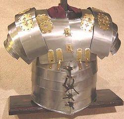 Medieval Armor Brass Lorica Segmenta Collectible Props