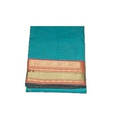 Cotton Silk Border Plain Sarees