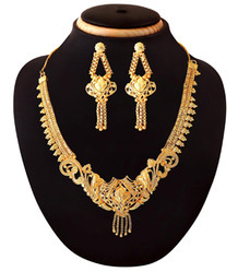 Antique Fashion Designer Gold Plated Necklace
