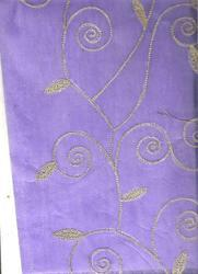 Purple Handmade Paper with Embroidery