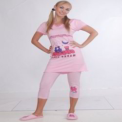 Girls Cotton Printed Pajamas