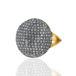 Pave Diamond Studded Rings