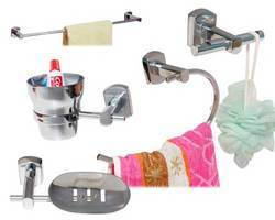 Brass Bathroom Accessories on Bathroom Accessories   Brass Chrome Plated 5 Pcs Bath Fittings Set