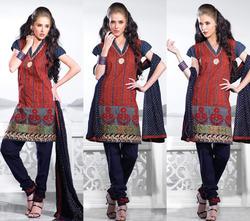 Silk Embroidered Fabric Salwar