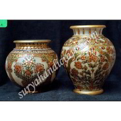 Marble Pots With Meena Painting