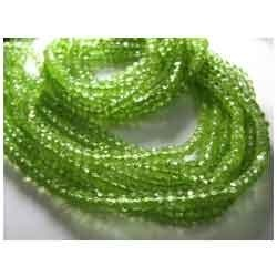 Full Strand - Super Finest - AA Peridot Faceted Rondelles
