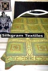 Silk Brocade Bed Cover