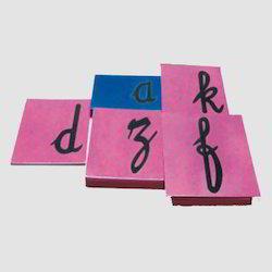 Sand Paper Letter Cursive