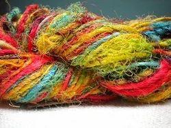 Sari Silk Multicolored Yarns