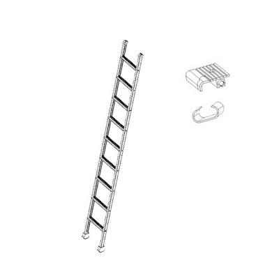 Single Straight Ladder with Wide Steps