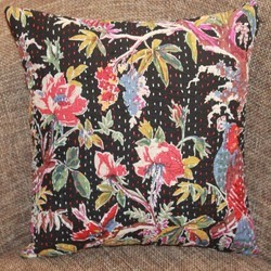 Kantha Floral Cushion