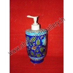 Blue Pottery Lotion Pump