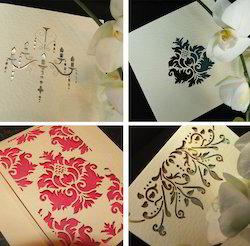Custom Made Laser Cut Wedding Cards