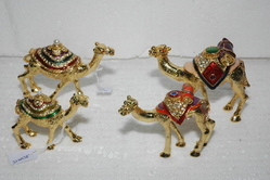 Golden Metal Enamel Animals