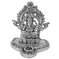ridhi siddhi daata white metal god idols figures