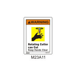 Rotating Cutter Safety Sign