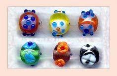 Round Lampwork Glass Beads