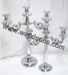 aluminium silver candelabra