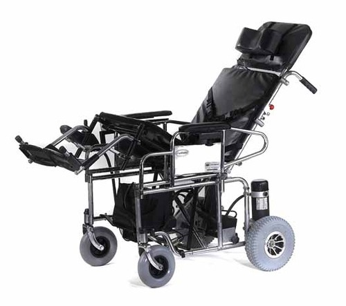 Motorized Reclining And Tilt- In Space Wheelchair