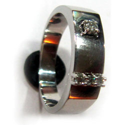Solitaire Platinum Gents Ring