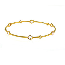 Sleek Indian Diamond Bangle