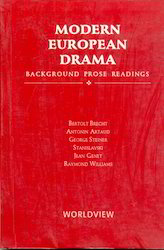 Modern European Drama Background Prose Readings