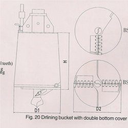 Drilling Bucket With Double Bottom Cover