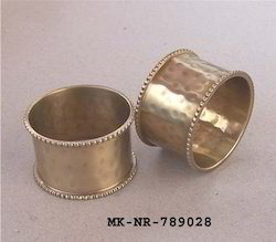 Brass Hammered Napkin Ring