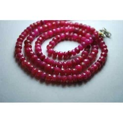 Red Ruby Faceted Rondelles