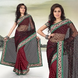 Thread And Jari Style Sarees