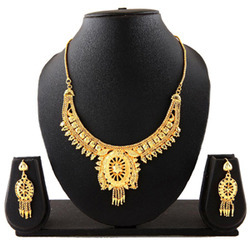 Lovely Wedding Gold Plated Necklace