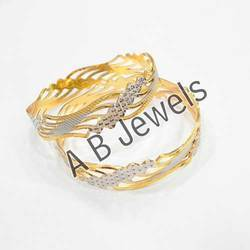 Gold Rhodium Bangle