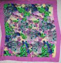 silk digital printed square scarf
