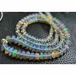 Ethiopian Opal Smooth Rondelels