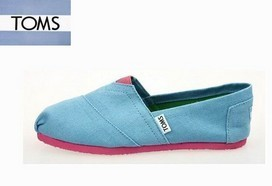 Skyblue Canvas Toms Shoes