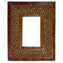 Wooden Mesh Photo Frame