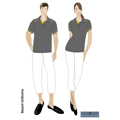 Hotel uniforms resort uniform manufacturer from mumbai for Hotel design jersey
