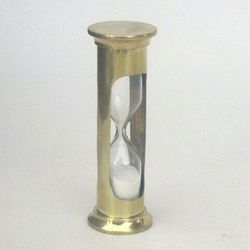 Brass Glass Sand Timer Hourglass