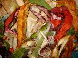 Sari Silk Ribbon Yarns In Multicolor
