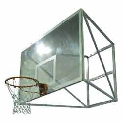 wall mounted basketball post