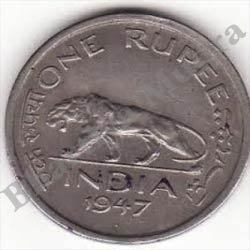 One Rupee 1947 Coin