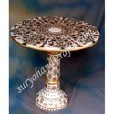 Marble Table With Gold Work