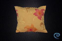Golden Yellow Cushion Cover With Embossed Floral Pattern