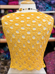 Sun Net Shrug Top