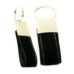 Metal leather key chain